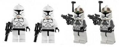 LEGO Star Wars 8014 Clone Trooper & Clone Gunner, 2009 Retired Figures Bundle