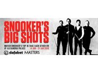 Masters snooker x2 tickets - semi final evening session (20-01-2018)
