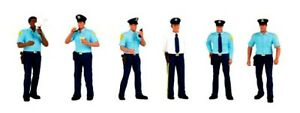 New-Bachmann-Scene-Scapes-O-Scale-Police-Squad-Six-Policemen