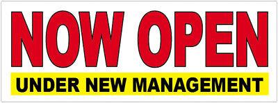 Now Open Under New Management Vinyl Banner Sign 2 3 4 6 8 10 12 20 Ft Wb