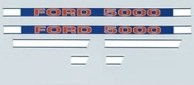 Tractor Hood Decal Set Kit F504hb For Ford New Holland 5000 1968 Up