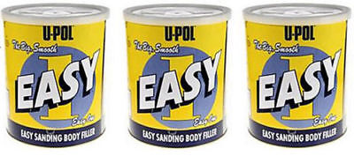 3 X U-POL EASY 1 BODY FILLER 3 L Litre EASY ONE SMOOTH - FREE  DELIVERY