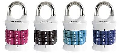 Master Lock 1535DWD 1-1/2in (38mm) Wide Set Your Own Word Combination Padlock