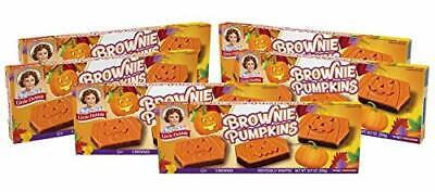Little Debbie Brownie Pumpkins, 6 Boxes, 30 Individually Wrapped Brownies