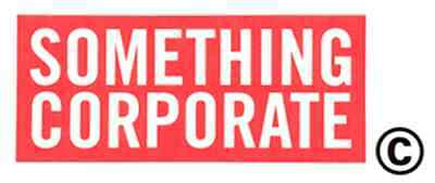 Something Corporate Sticker pop rock band window decal