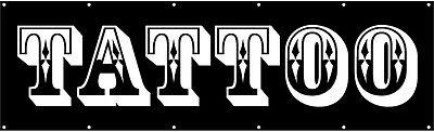 Tattoo Vinyl Banner Sign 3x10 Ft - Kb