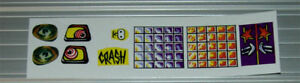 BALLY PARTY ZONE Pinball Machine DECAL SET LICENSED