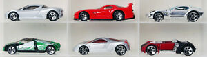Lot of 6 real concept supercars Hot Wheels diecast cars 1:64