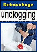 Plombier-débouchage Drain unclogging/plumber CAMERA 438-875-4003