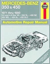 Mercedes-Benz-350-450-Haynes-Repair-Manual-71-80-Service-Book-Owners-Shop