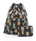 Eco Chic Drawstring tas Pineapple zwart