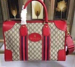Gucci duffel bag red