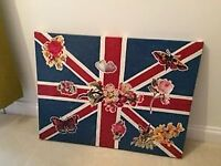 Unique Union Flag canvas art.