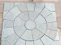 Patio circle with in a square