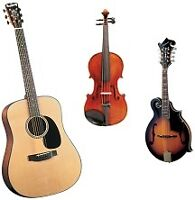 MUSIC LESSONS - Guitar, Fiddle, Mandolin