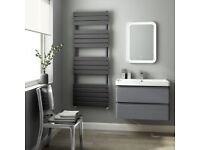 Anthracite Heated Towel Rail BRAND NEW never been opened 1600 mm x 600 mm