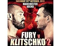Fury v Klitschko x2 Tickets