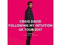 Craig David Following my Intuition Tour 2x Standing Tickets LEEDS