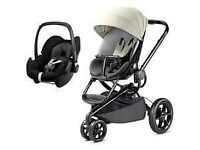 Quinny Moodd Pushchair Block grey Devotion and Maxi Cosi Cabriofix Car Seat