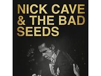 Nick Cave and The Bad Seeds Tickets For Sale - O2 Arena London/30th September 2017