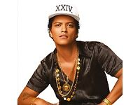 Bruno mars tickets- standing- Manchester-3rd May 2017- £270 the pair