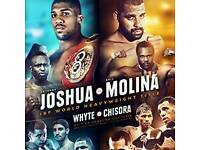 2 x boxing tickets