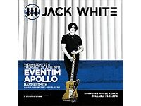 3 x Jack White standing tickets - Hammersmith Apollo Tuesday June 26