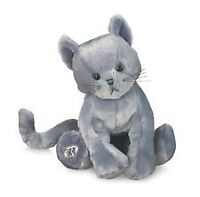 CUTE WEBKINZ CHARCOAL CAT WITH SEALED/UNUSED CODE *ORILLIA*