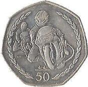 Isle of Man TT 50p