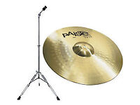 Paiste 101 Brass 20 inch ride cymbal & Mapex boom stand