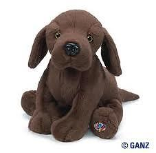 Webkinz-COCOA-LAB-New-w-Sealed-Unused-Code-Tag-chocolate-brown-dog-RARE