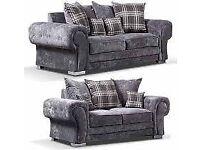 new sofa ---verona 3 + 2 seater sofa in grey colour