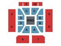 WWE LIVE TICKETS 1/2/3 GREAT FLOOR BLOCK B SEATS Cardiff Motorpoint Arena Fri 5th May £85 EACH