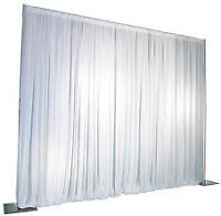Backdrop - White Sheer or Black Satin