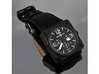 Bell and Ross BR01-94 Chronograph 46mm Ceramic P.V.D coated with all original receipts 2007