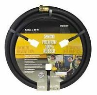 HEAVY DUTY BLACK GARDEN HOSE & HOLDER