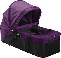 Baby Jogger Carry Cot for City Mini in Purple with attachments
