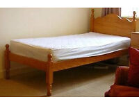 FREE: Single Pine Bed with Mattress (Collection Only)