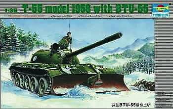 Trumpeter 00313 - 1:35 Russischer Panzer T55 mit BTU-55 - Neu