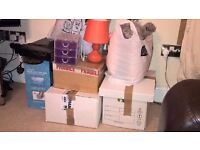BUNDLE OF VARIOUS ITEMS, INCLUDING HAIR STRAIGHTENERS, WEDDING TIARA, HOME DECOR, CAR BOOT ITEMS