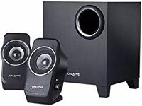 reative Labs 2.1 Multimedia Speaker System Surround Sound Bass Sub Subwoofer TV PC Laptop (Black)