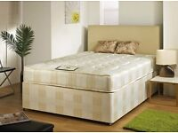 A Single/Double/Kingsize Divan Bed Base with 11inch SpineCare Extrafirm Mattress, Small