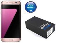 SAMSUNG GALAXY S7 EDGE PINK GOLD BRAND NEW CONDITION UNLOCKED BOX ACCESSORE WARRANTY & RECEIPT