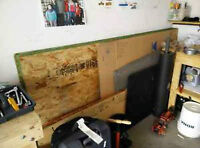 1/2 4x8 particle board, 7 sheets