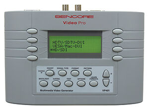Sencore VP400 Video Generator and SP295C SoundPro Audio Analyzer