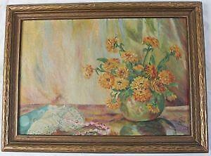Miniature Painting Of Flowers By W S Hall