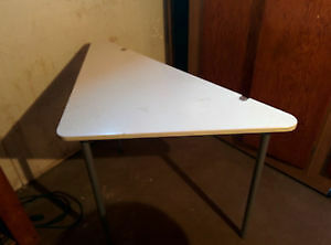 White IKEA fold out table
