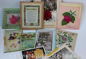 Large Lot of Antique and Vintage Greeting Cards, Christmas, Birthday, etc.