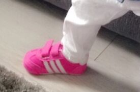 Toddlers kickers size 2 blue converse size 3 adidas trainers size 3 pink adidas size 2