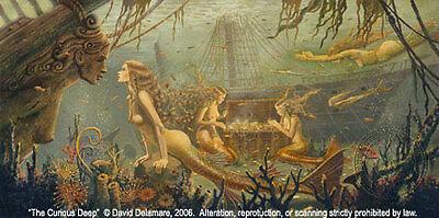 The Curious Deep-Mermaid Art by David Delamare (R57)